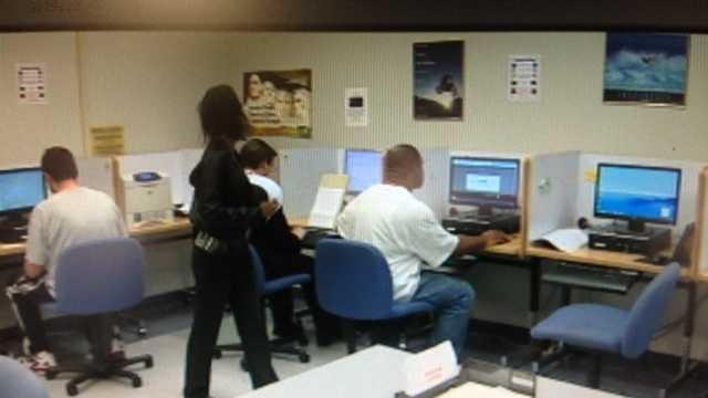 Inside a SETA computer lab in Sacramento (March 14, 2013).