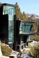 The home overlooks Lake Tahoe.