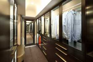 The master bedroom has this walk-in closet.