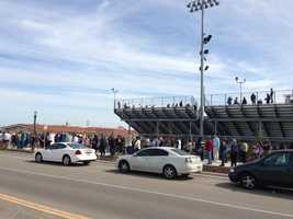 Students at Kimball High School in Tracy were evacuated Monday morning due to a bomb threat.