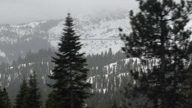 Tuesday saw wet weather on the way to the Lake Tahoe region (March 19, 2013).