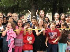 Alberta Martone Elementary School students are excited to find the missing time capsule.