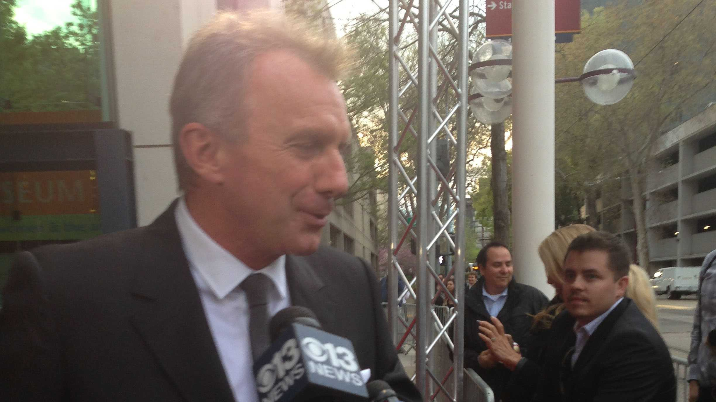 Four-time Super Bowl winner Joe Montana at the California Hall of Fame event held Wednesday night (March 20, 2013).