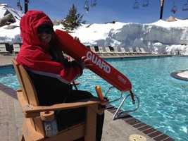 The High Camp pool at Squaw Valley Resort, which offers breathtaking views at 8,200 feet, opened Saturday.