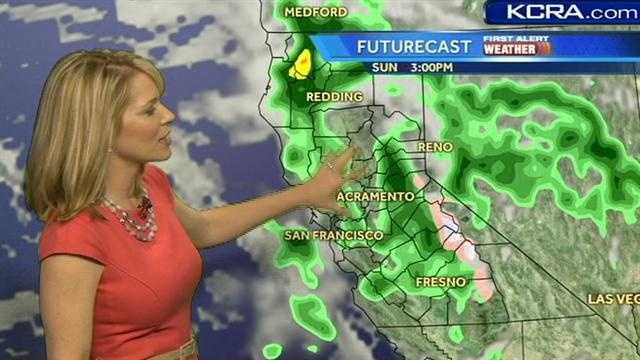 See when to expect rain this holiday weekend.