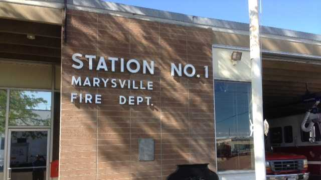 Marysville's only fire station is located on Ninth Street. (April 2, 2013)