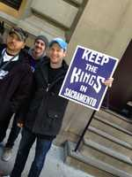 Kings fans showed their support in New York.