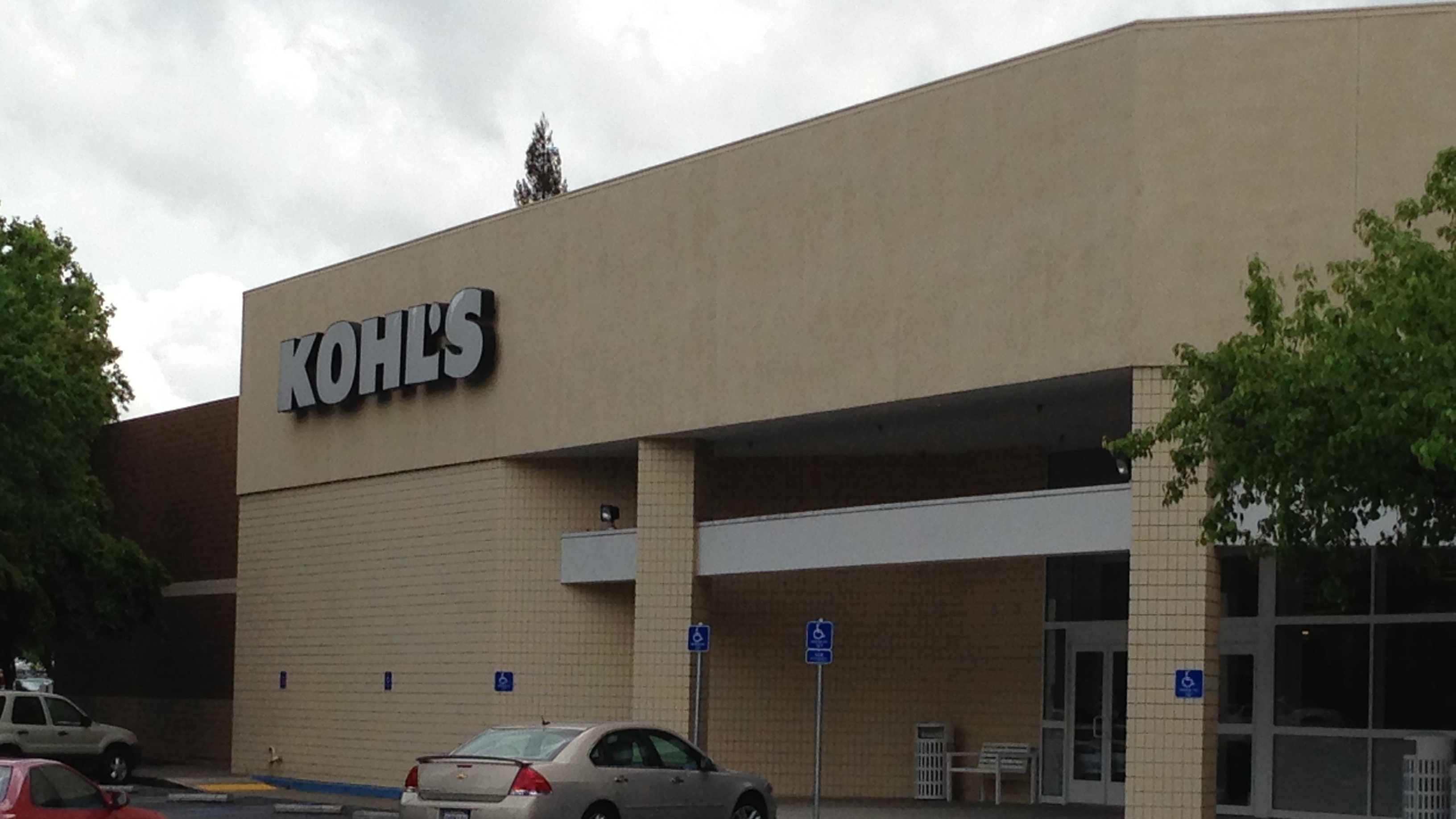 A woman said she discovered a security while inside a dressing room at this Kohl's Department Store in Rancho Cordova.
