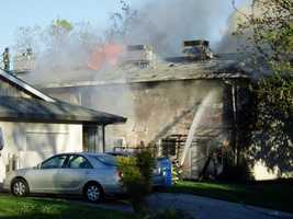 Neighbors reported a possible propane tank explosion was somehow involved.