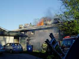 Due to the dry and windy conditions, fire crews asked for help from several other departments.