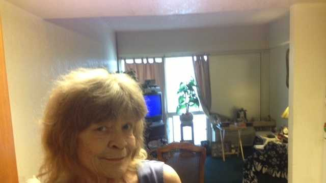 Linda Guinn says her apartment remains infested, despite recent treatments (April 11, 2013).