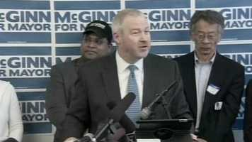 Seattle Mayor Mike McGinn: McGinn joined Hansen and other investors in New York for the group's presentation to the NBA's relocation committee. McGinn said his job was to let the NBA know that the Seattle is committed to supporting an NBA basketball team.