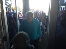 Kings fans enter the arena for Wednesday night's game vs. the Clippers (April 17, 2013).