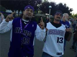 Fans flocked to Sleep Train Arena on Wednesday night, for what might be the Sacramento Kings' final home game in California's capital city (April 17, 2013).