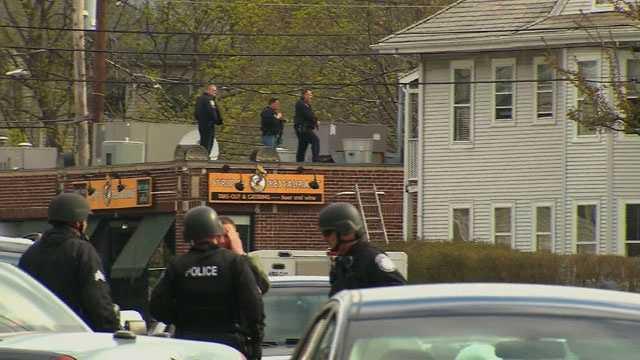 Boston Marathon bombing manhunt
