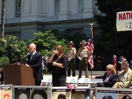 Gov. Jerry Brown says he is attending the event to mourn with crime victims.