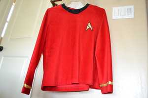 10.) Geek alert part two! Yes, I am a huge Star Trek fan! We're talking about the original series here. I actually had this uniform made years ago for a costume. Don't judge!