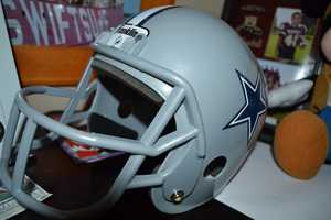 11.) Let me preface this by saying we love the 49ers, but having grown up in Big D, I do swear allegiance to the silver and blue. This is inside my son's room, so I'm making sure a new generation of Cowboys fans will understand pain and disappointment.