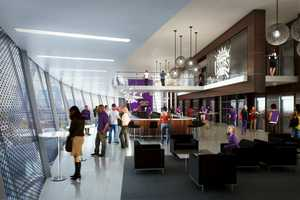 A rendering of a suite inside the arena.
