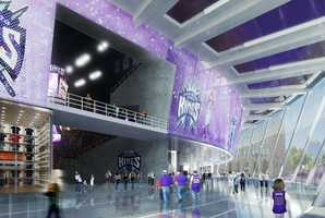 Here's a look inside the main lobby of the proposed arena.