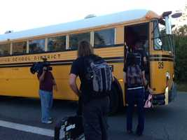 Fewer children take the bus to school on Monday.