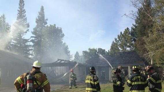 Sacramento City Fire crews battle a blaze in the Pocket neighborhood.
