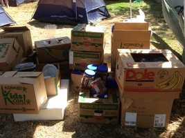 Donated food(May 1, 2013).