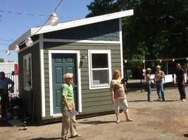 This sleeping cabin was constructed by Habitat for Humanity(May 1, 2013).