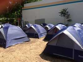 Only 15 tents are permitted by city code(May 1, 2013).