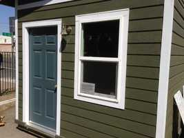 The cabin has solar light and a fan with extra insulation (May 1, 2013).