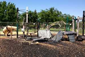The Cosumnes Fire Department said Wednesday it is investigating a fire at the Lawrence Park playground Elk Grove as an arson. (May 1, 2013)