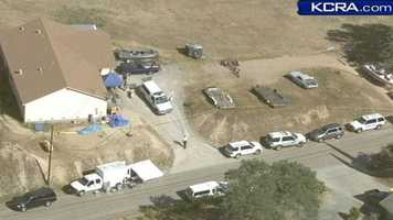 Authorities searched the Valley Springs home of Leila Fowler on Thursday. Fowler was found stabbed to death at the home on Saturday.