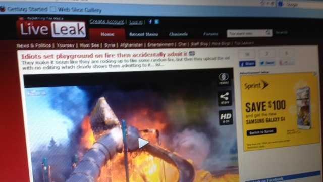 Elk Grove playground fire video