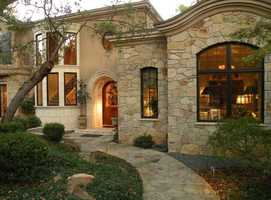 As you walk up to the home, you will see this European-style front.