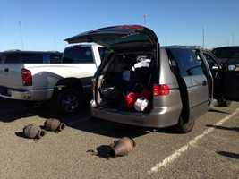 Authorities arrested three men in connection with an in-progress theft of catalytic converters at the Sacramento International Airport Monday morning.