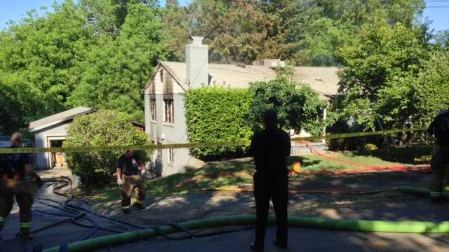 At the scene of a Fair Oaks house fire Monday (May 13, 2013).