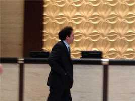 Maloof walks across the lobby in Dallas ahead of the NBA Board of Governors' meeting.