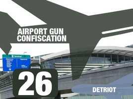 Airport: Detroit Metropolitan Wayne County AirportTotal guns: 26Percentage loaded: 85%