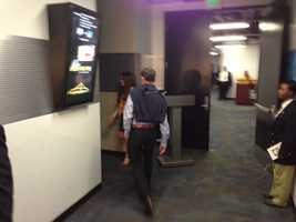 Vivek Ranadive enters Oracle Arena. (May 16, 2013)