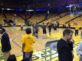 The scene at Oracle Arena before Game 6 of last year's Western Conference semifinals between the Golden State Warriors and San Antonio Spurs.
