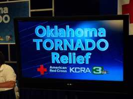 Get a behind-the scenes look at KCRA 3's disaster relief drive for the victims of the Oklahoma tornadoes. People may donate by calling 1-800-513-3333, by texting the word REDCROSS to 90999 to make a $10 donation, or by visiting redcross.org.