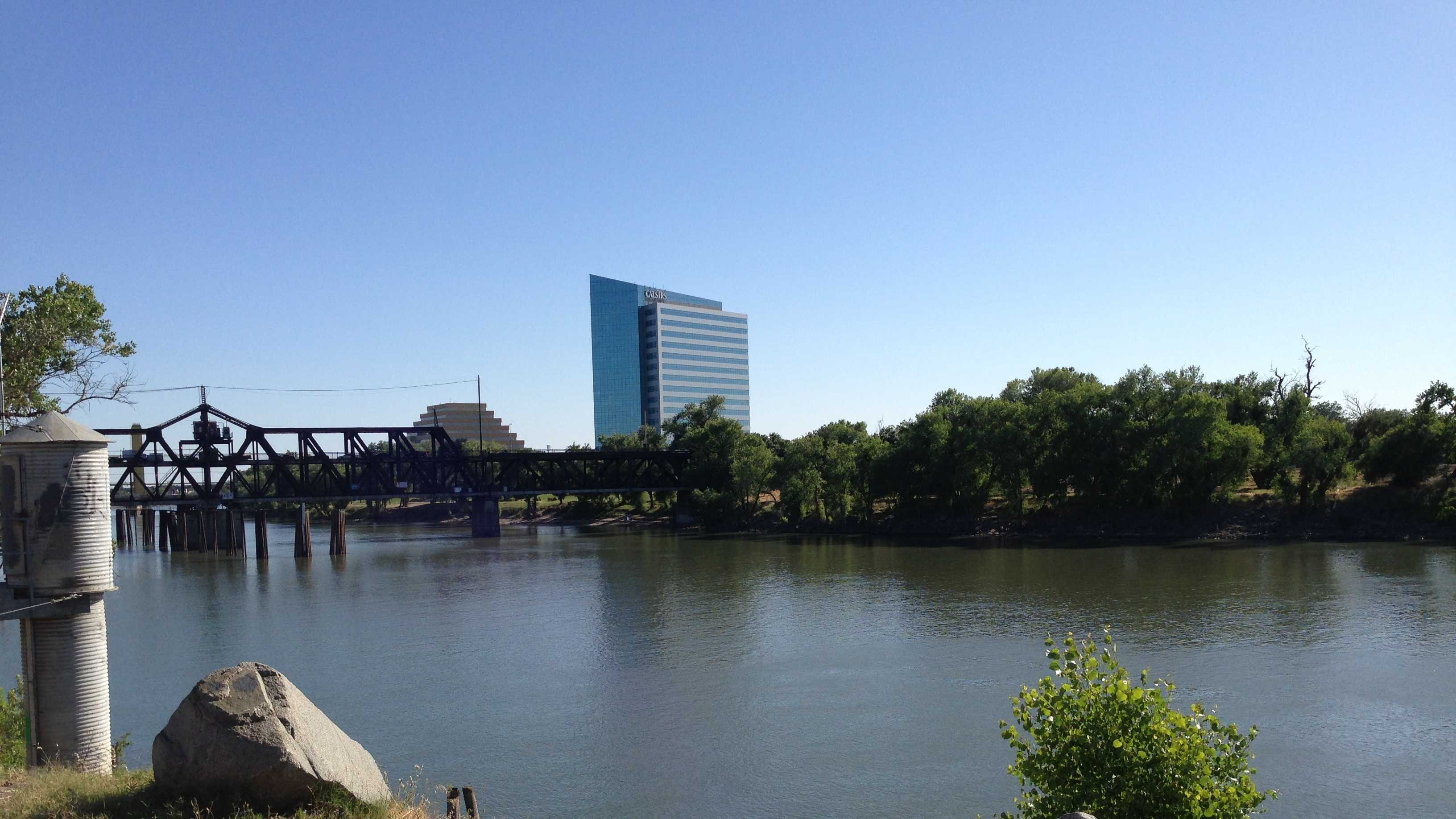 The new bridge will be built just upstream from the 100-year-old I Street Bridge.