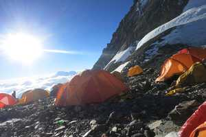 Camp 4 sits at 26,000 feet in area known as the South Col. From this camp climbers launch their summit attempts.