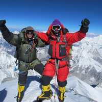 Adrian Ballinger (left) has summited Mt. Everest six times. This was Sergey Baranov's first Everest summit.