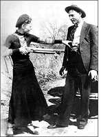 Bonnie ParkerParker, and her companion Clyde Champion Barrow, were shot to death by officers in an ambush in Louisiana in 1934 following one of the most spectacular manhunts the nation had seen. They were believed to have committed 13 murders and several robberies and burglaries.