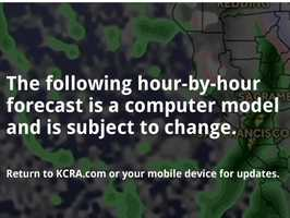 Rain is expected to fall throughout the region on Memorial Day. Track the wet weather hour-by-hour with KCRA.com's FutureCast slideshow.