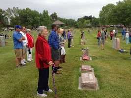 A Memorial Day service is held in Davis at the Davis Cemetery. (May 27, 2013)