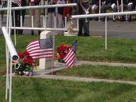 A Memorial Day ceremony is held at the Tracy cemetery. (May 27, 2013)