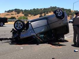 CHP said the driver of the Scion was crushed during the crash and died at the scene.