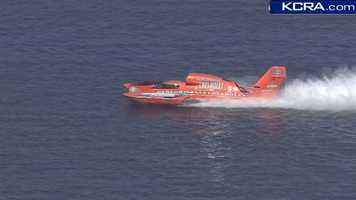 Hydroplanes hit Folsom Lake for time trials of the H-1 Unlimited Series taking place this weekend.